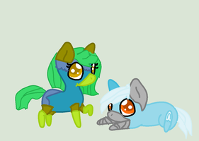 Scribble and Bribble ADOPTS by SunshineChic