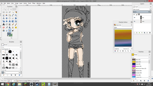 Work in Progress- Naomi Chibi Color by FaylinaMeir