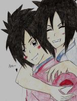 Madara and Izuna as Children by iMadara