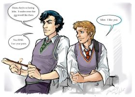 Sherlock BBC + Harry Potter 1 by dauntingfire