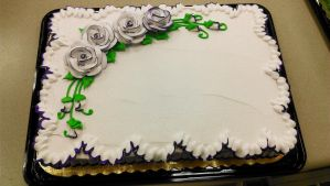Purple tipped rose cake by ayarel