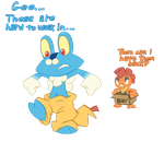 More Froakie and Scrafty by Goronic