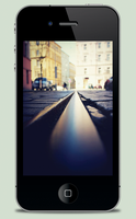 Tram Track iPhone Wallpaper by JackieTran