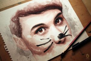 Dan and the cat whiskers by szluu