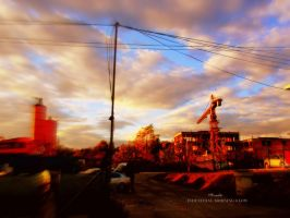 Industrial morning glow by Piroshki-Photography