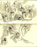 Strenuous Merlin expressions by Dandebird