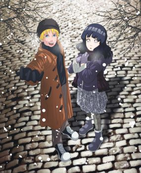 Naruhina: The first snow flurries by Nishi06