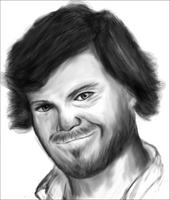 Jack Black Drawing by chilipeppersfan92