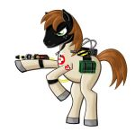 Ponyville Ghostbuster: Tex (no background) by BloodyWilliam