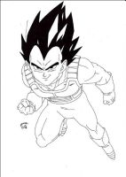 Dragonball Z - Vegeta Normal Lineart by TriiGuN