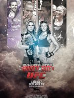 UFC 168 POSTER ROUSEY VS TATE 2 by DGsWay