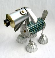 Sterling - Robot Dog Sculpture by adoptabot