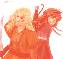Fili and Kili by Isram