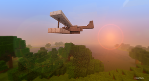 Minecraft plane by countevil
