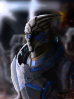 Garrus Vakarian on Menae by CaNDiDeR