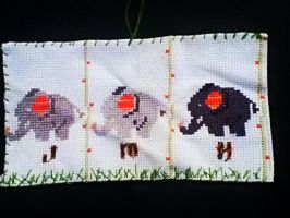 Baby Elephant Banner w/ Initials by SharkiCorn