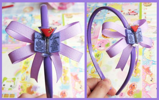 Martini Hair Band by cherryboop