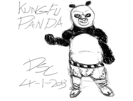 Kung fu ''evil'' Panda by TheWiseWeirdProphet