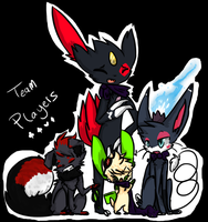 Team Players family portrait by CH3CK3RED-R3TR0