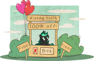 Commission - Asphodel's Kissing Booth by Foxy-Noxy