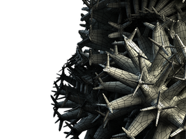 Wireframe 3D object by nnq2603