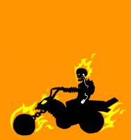 Ghost Rider luv his tunes by gsilverfish