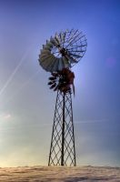 lonesome windmill by Tschisi