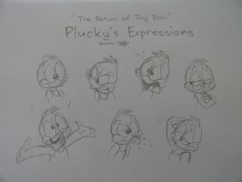 The Return of Tiny Toon - Plucky's Expressions by JPPAqui
