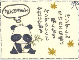 Panda Card by Inari-Michiru