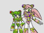 Cosmo and Luna as Reploids by SurgeCraft