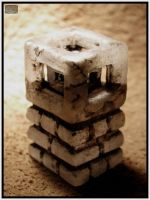 Hypercube in Stone by CopperCentipede