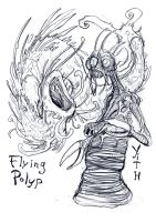 Fyling Polyp And Yithian by Clone-Artist