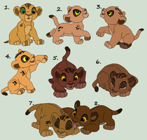 Cub Adopts 3 ...::CLOSED~::... by Cece-Edgars-Sister