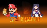 Mario vs. Sailor Mars by SonicPal