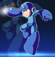 MegaMan by Domestic-hedgehog