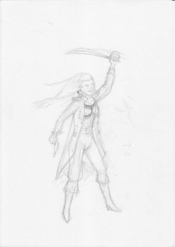 Freyja the northern brigand WIP by Gromulus