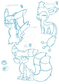 .:Doodles:. Me and My School Friends (girls) by espeon2umbr