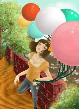 Reachout the Balloons color by heroikka