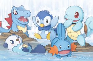 PKMN: Water Starters by finni