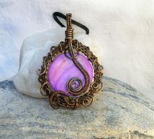Mother of Pearl Pendant by acesoart