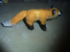 Needle felted standing red fox plushie by ArcticIceWolf