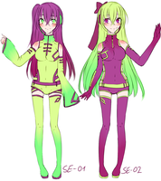 When i actualy re-draw some of my old voca-oc ovo' by Emiko-suu