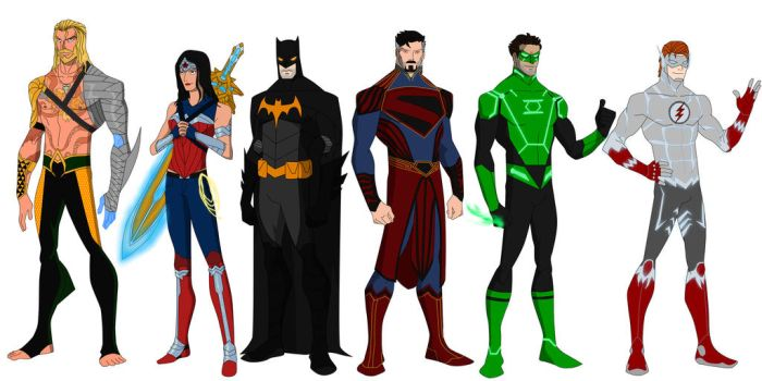 The Justice League by shorterazer