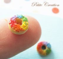 rainbow donut earrings3 by PetiteCreation