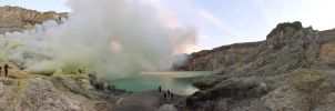 Ijen Crater Bottom by ProfSmiles