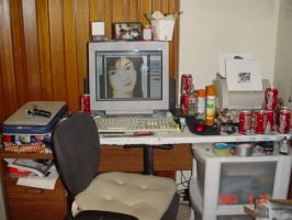 my work area by parasiticdrag