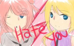 Hirone Gin and OTOME - HATE YOU by Hiro-Ne