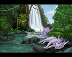 .:Waterfall Mist:. by Rorita-Sakura