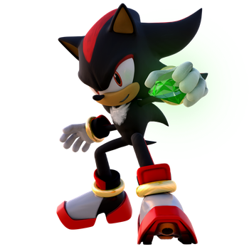 Shadow the Hedgehog - Chaos Emerald by RealSonicSpeed