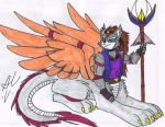DH07 Commission Updated Fursona by Whitefox89 by dragonheart07